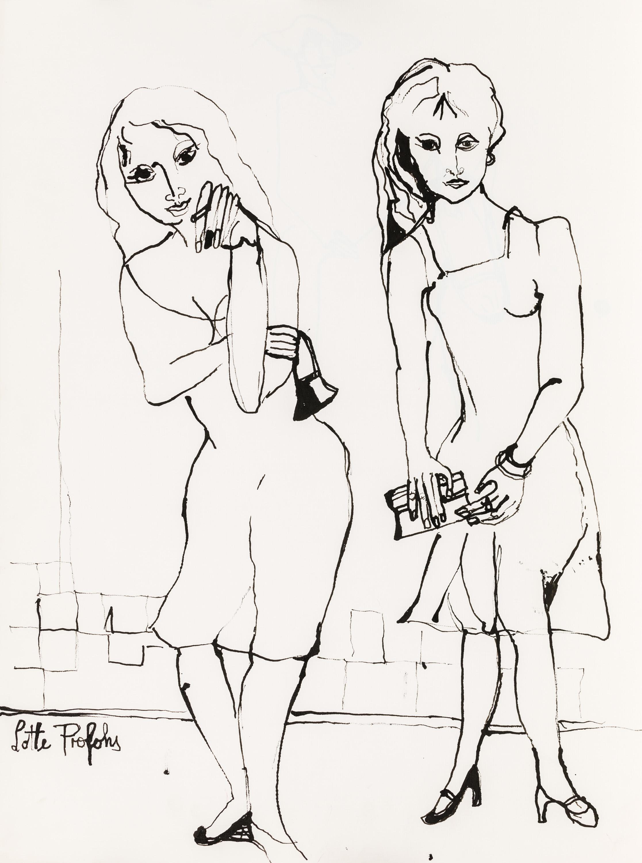 Lotte Profohs, Zwei junge Damen in Paris