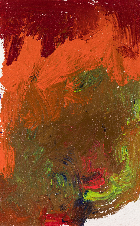 Hermann Nitsch, Ohne Titel (Fingermalerei) / untitled (finger painting)