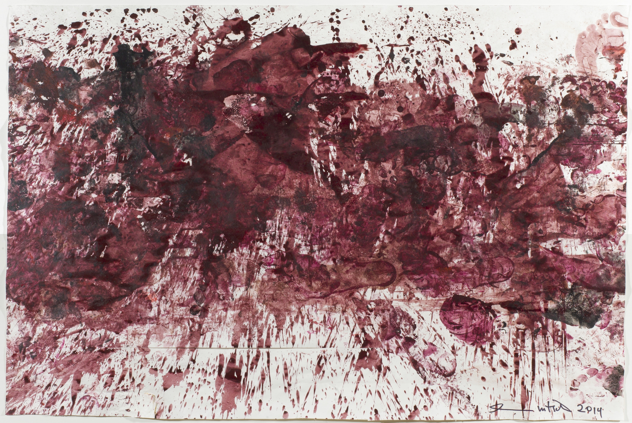 Hermann Nitsch, Ohne Titel 70. Malaktion / untitled 70th painting action