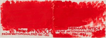"""Hermann Nitsch, Ohne Titel (2 Entwürfe für """"HERMANN NITSCH FRÜHE AKTIONSMALEREI 1961-1963"""") / untitled (2 studies)"""