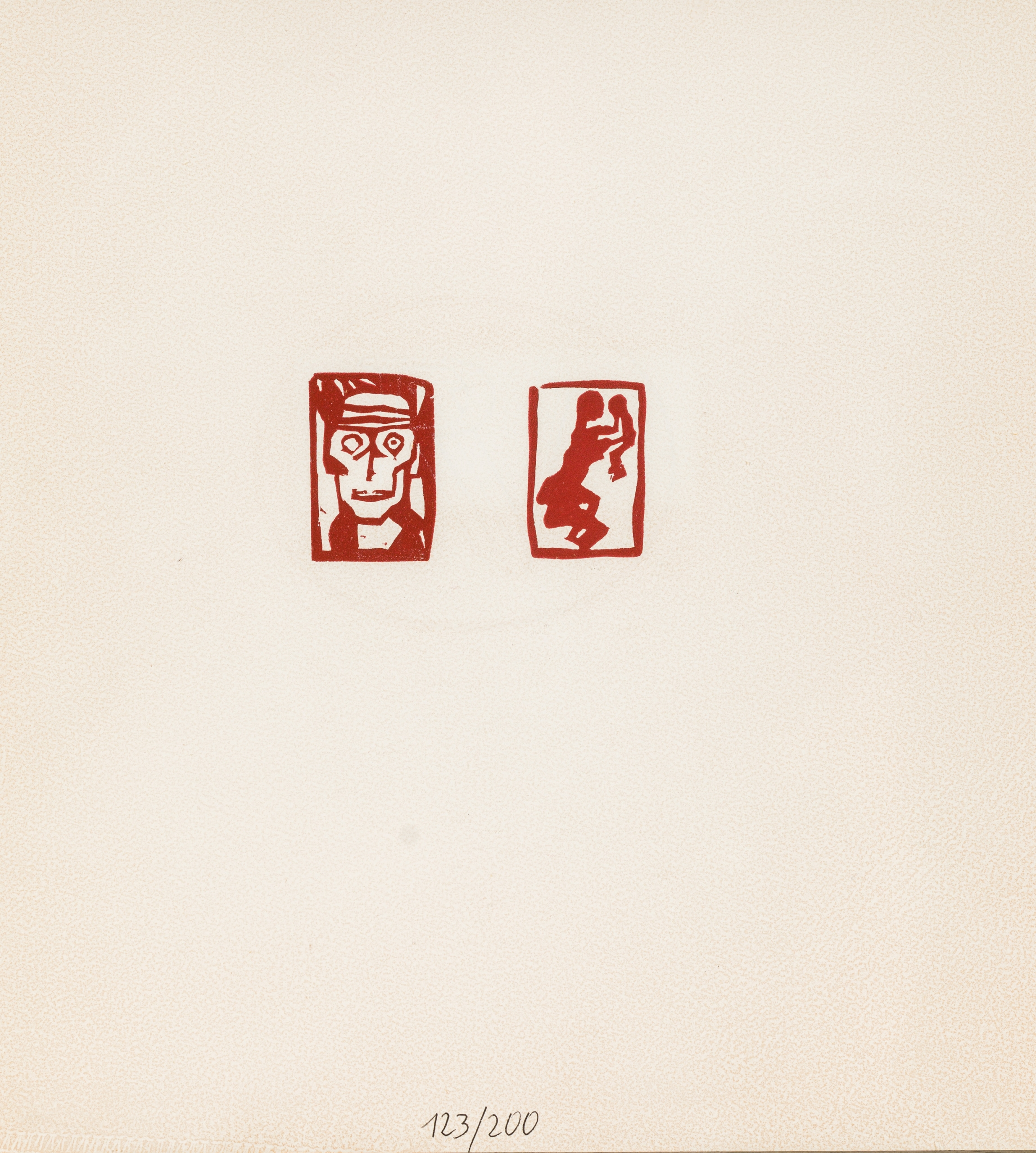 Egon Schiele, Männerkopf bzw. Mutter und Kind