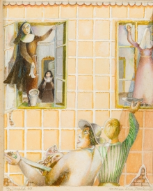 Albert Paris Gütersloh, Nonnen beim Fenster putzen