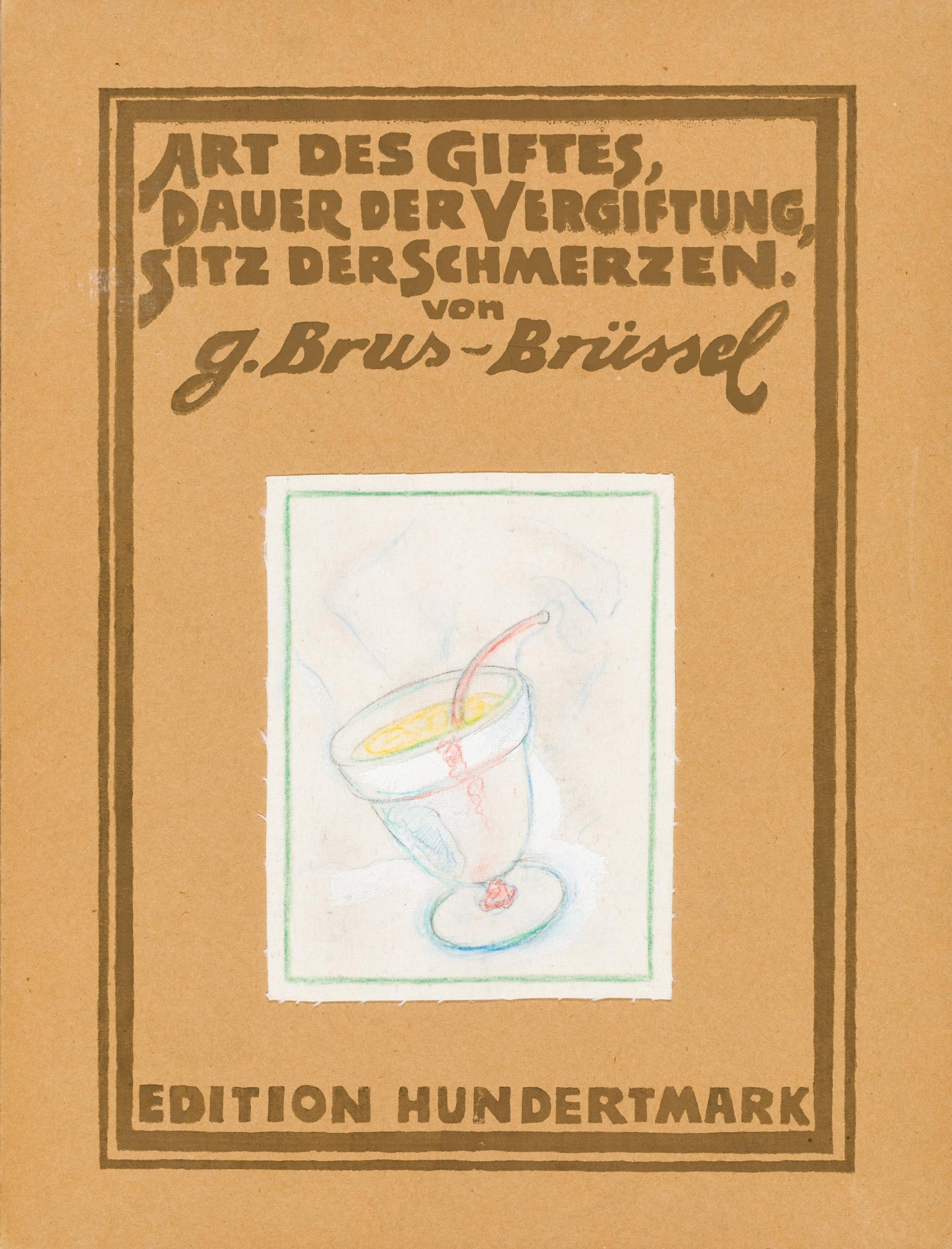 Günter Brus, Art des Giftes, Dauer der Vergiftung, Sitz der Schmerzen (fünfteilige Bildgeschichte)