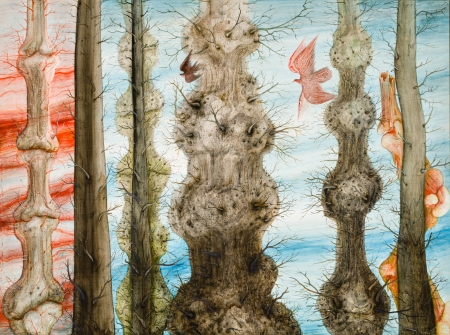 Anton Lehmden, Bäume - Wandlung