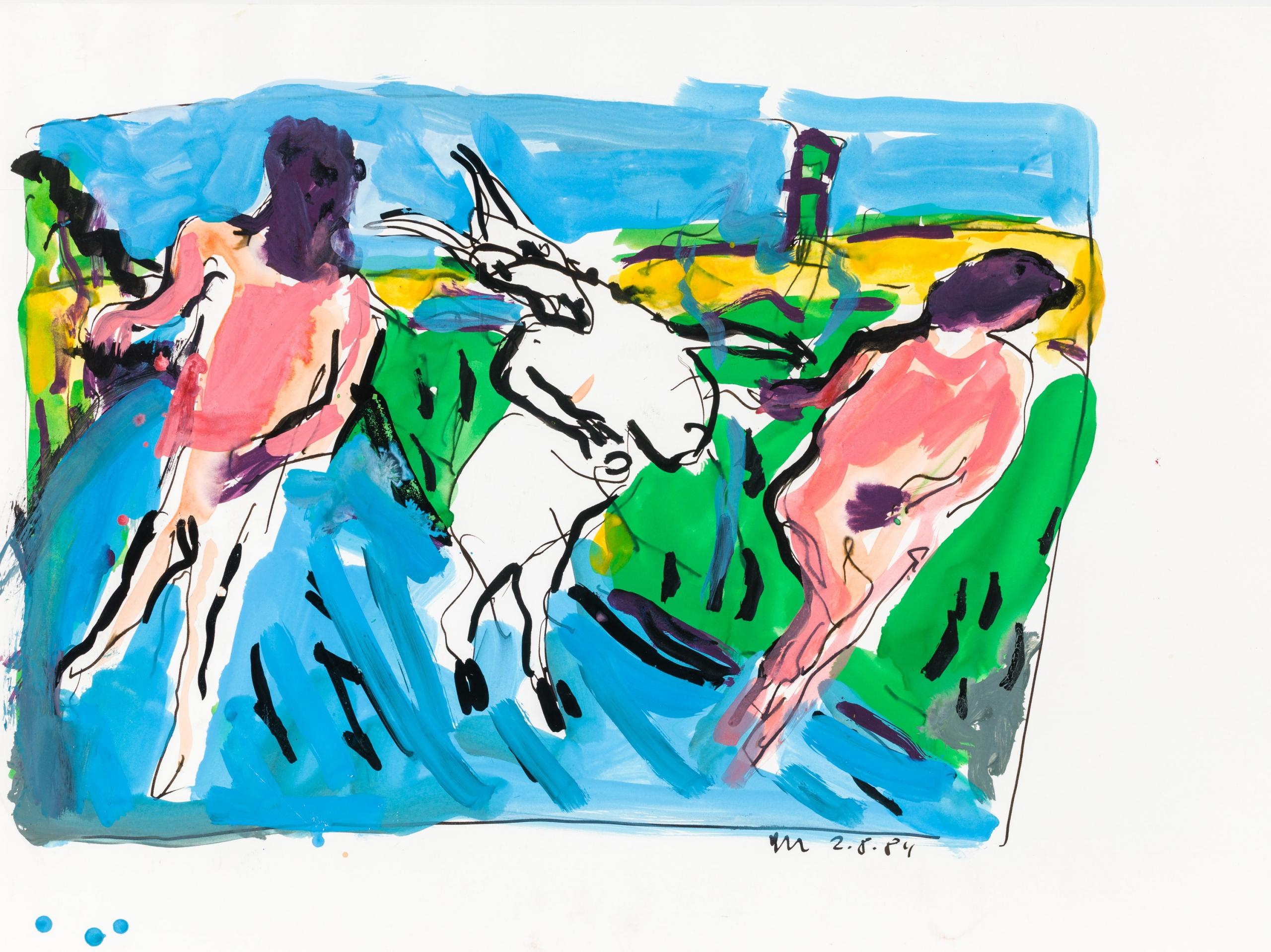 Otto Mühl, Ohne Titel (Tanz mit Ziege)