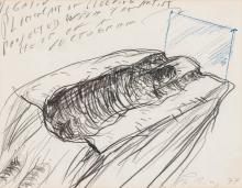 Alfons Schilling, NEGATIV (aus der Serie Schlafender transparenter Künstler