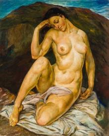 Arthur Brusenbauch, Sitzender weiblicher Akt