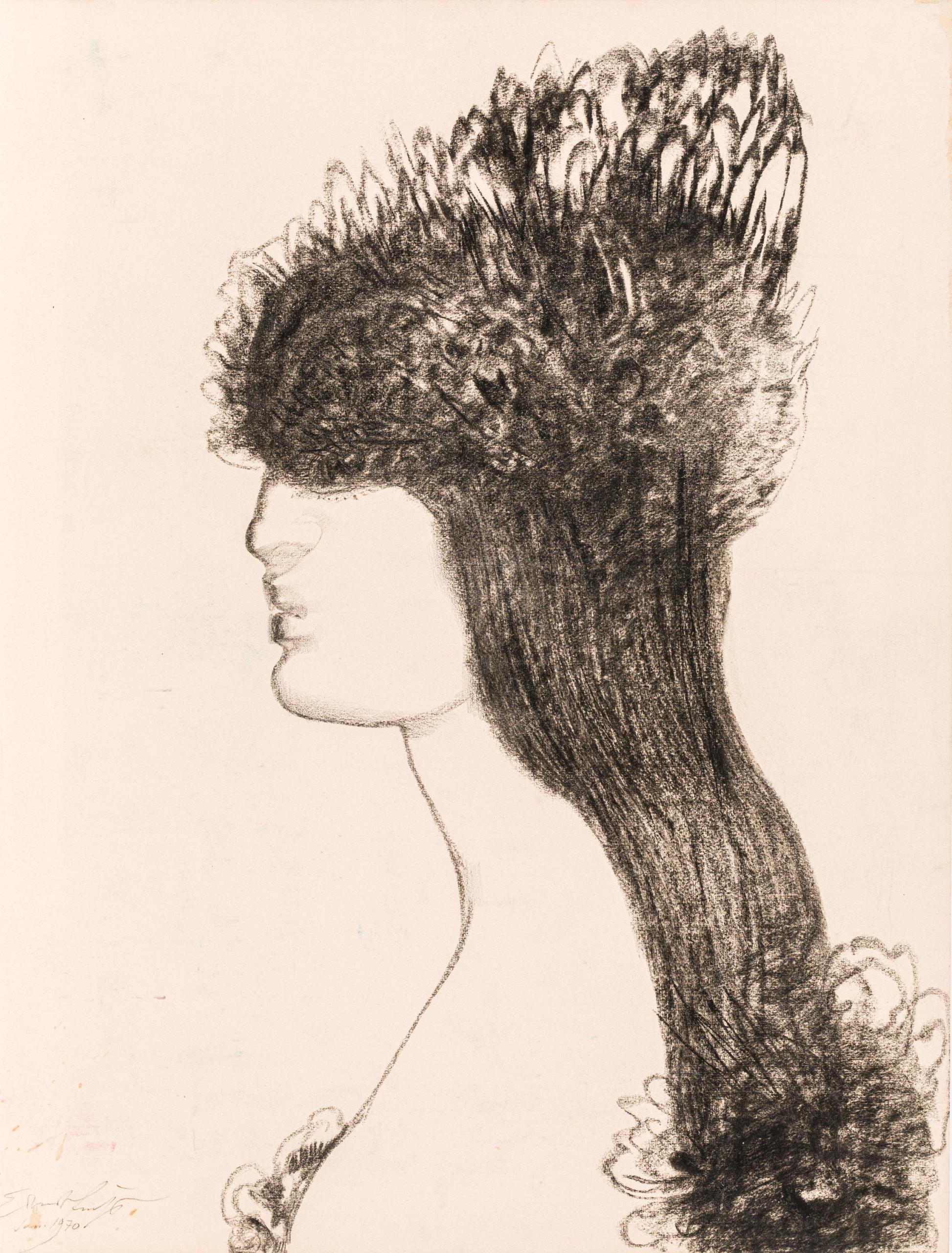 Ernst Fuchs, Frisur der Katze