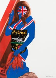 Deborah Sengl, Ohne Titel (aus der Serie Logofrauen)