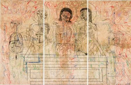 Hermann Nitsch, Grablegung (Triptychon/triptych)