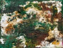 Otto Mühl, Ohne Titel (Materialbild grün)