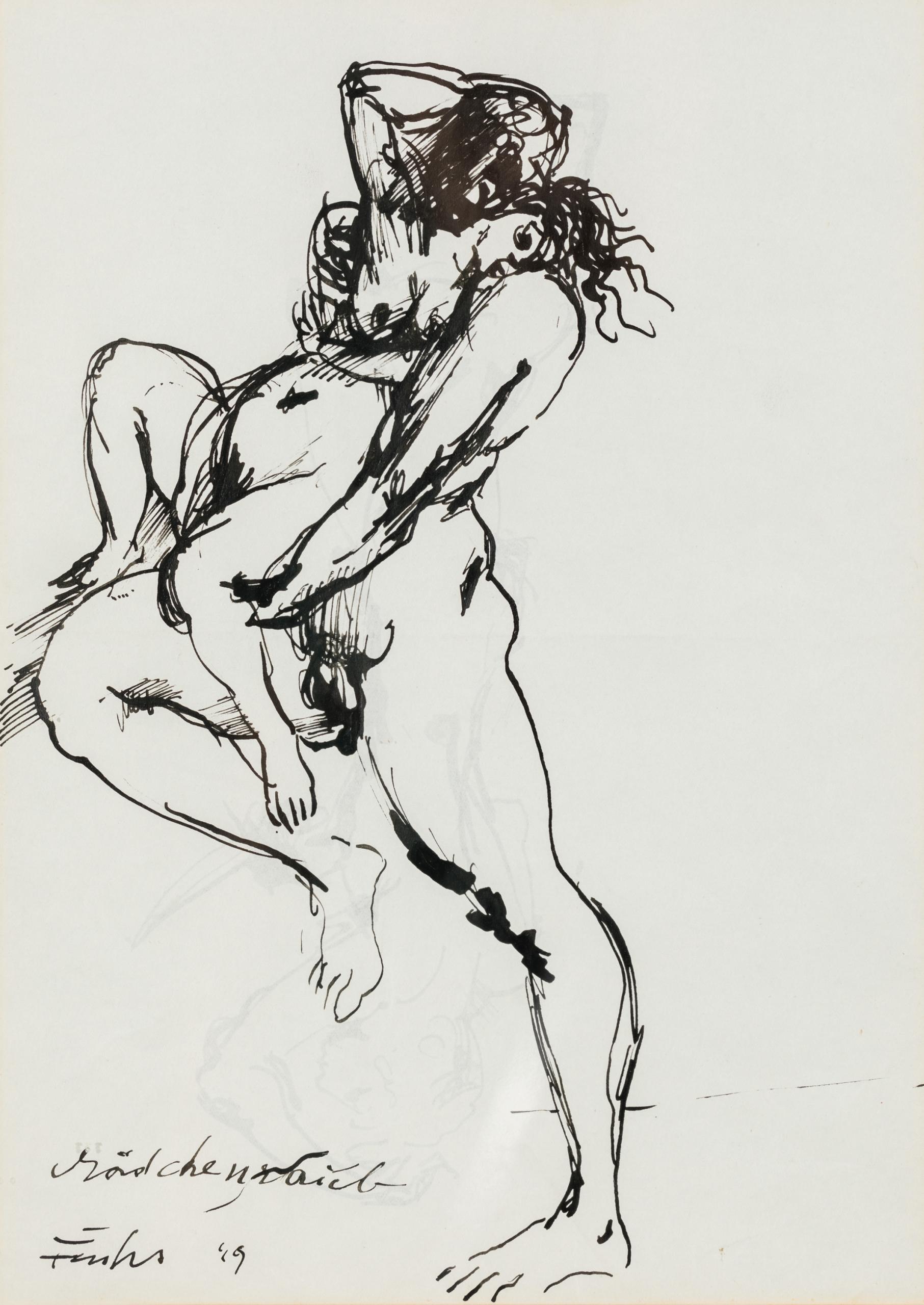 Ernst Fuchs, Mädchenraub