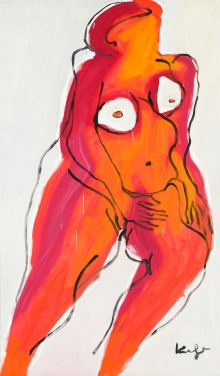 Alfred Kornberger, Roter Akt mit weißen Brüsten