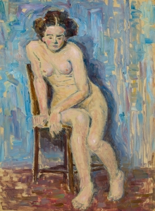Emil von Gerliczy, Sitzender weiblicher Akt