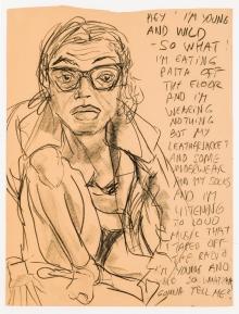Elke Krystufek, Selbstporträt (Hey I'm young and wild …)