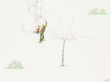Oswald Oberhuber, Ohne Titel (Bäume)