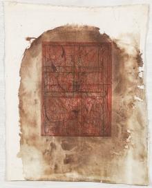Hermann Nitsch, Ohne Titel (Architekturzeichnung)