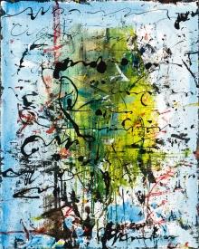 Hans Staudacher, Ohne Titel (Blau)