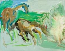Siegfried Anzinger, Ohne Titel (Pferde)