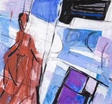 Carl Unger, Kreuzabnahme (Entwurf für Glasfenster Maria Namen)
