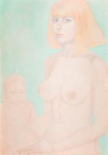 Ernst Fuchs, Porträt der Eva mit Nicolette