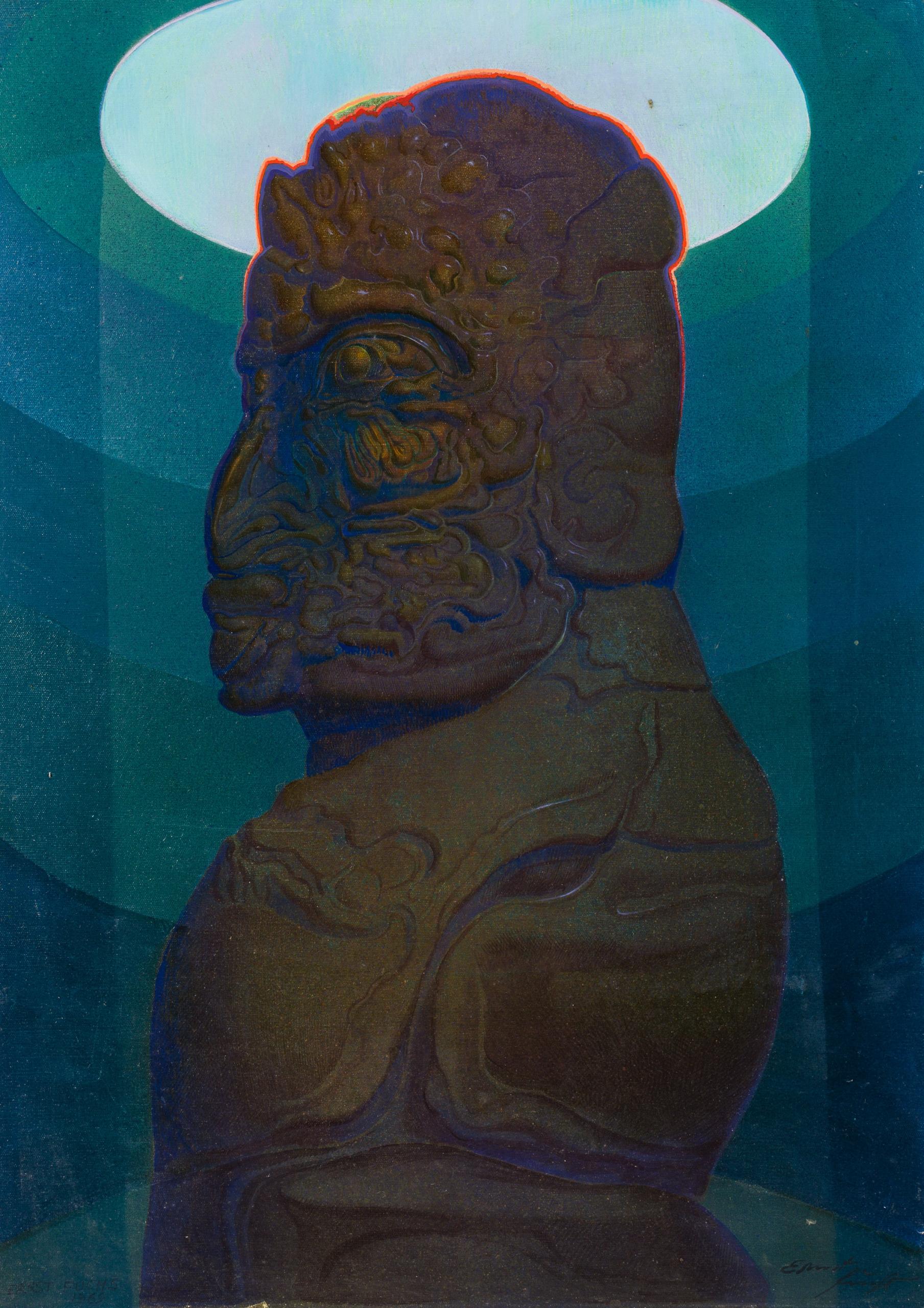 Ernst Fuchs, Cherub wie ein Blutstein (in der Glocke)