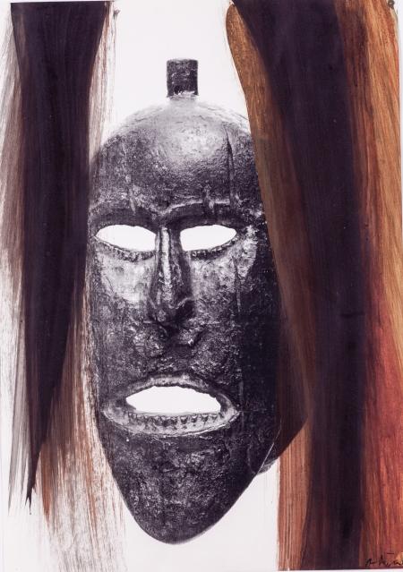 """Arnulf Rainer, Ohne Titel (aus der Werkserie """"Masken"""")"""