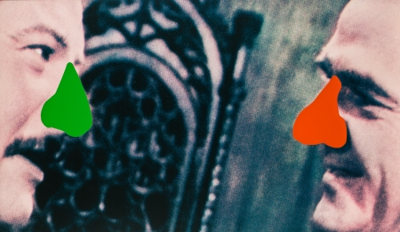John Baldessari, Two noses red and green