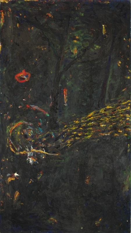 Gunter Damisch, Im Dunkeln unter Bäumen