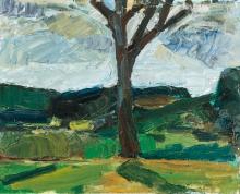 """Franz Grabmayr, Waldviertler Landschaft (aus der Serie """"Grüne Bilder"""")"""
