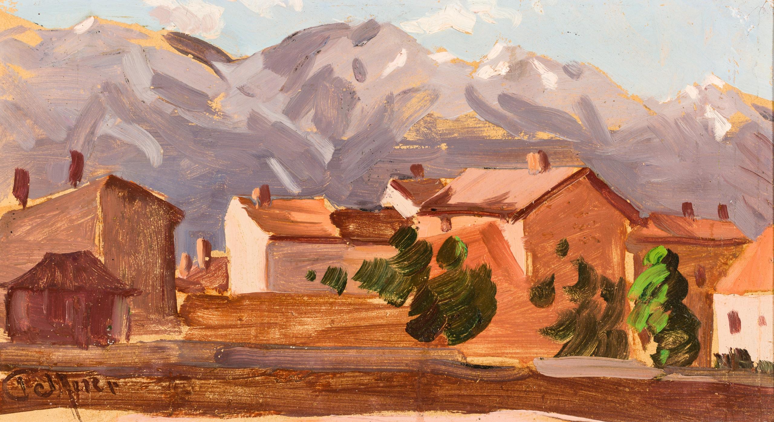 Josef Telfner, Dorf in den Alpen
