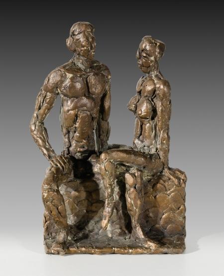 Oskar Bottoli, Sitzendes Paar