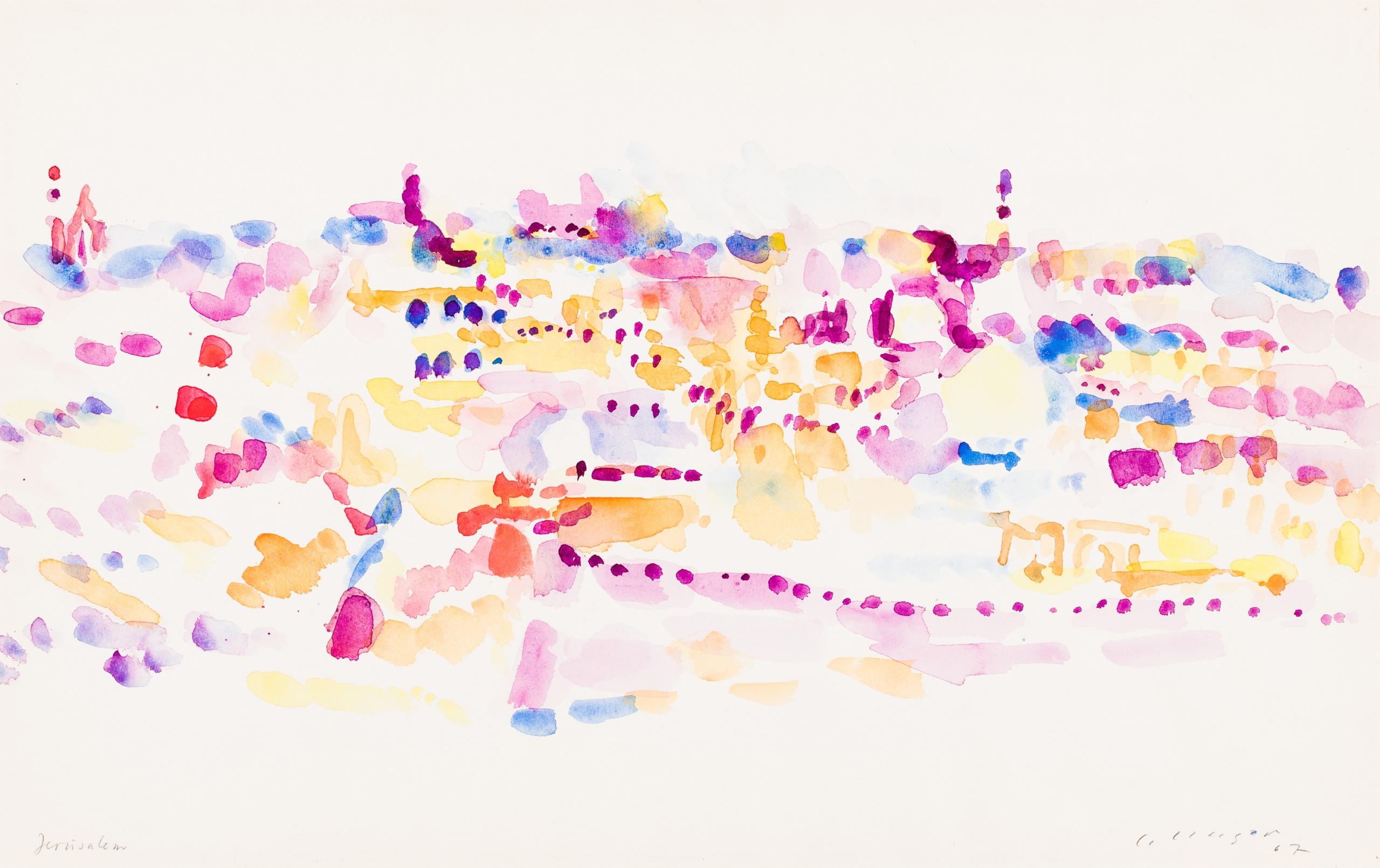 """Carl Unger, Jerusalem (aus der Serie """"Orientreise"""")"""