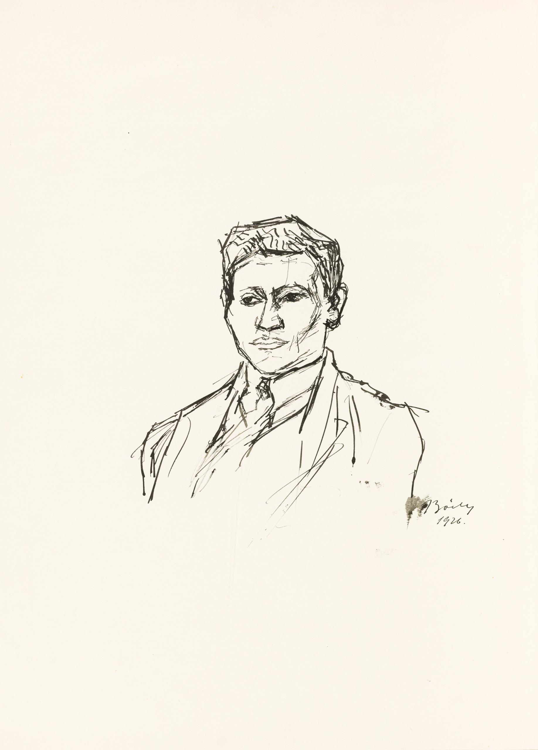 Herbert Boeckl, Portät eines jungen Mannes