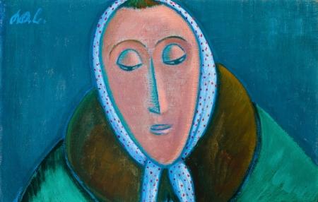 Werner Berg, Frau mit Kopftuch