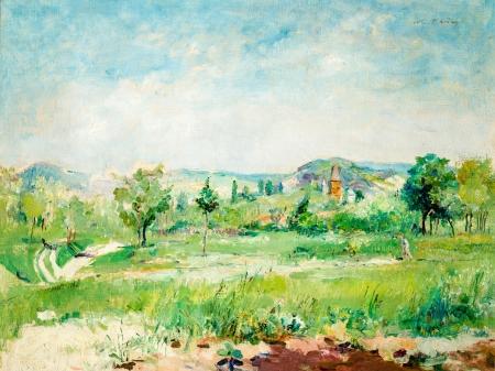 Wilhelm Thöny, Landschaft in Südfrankreich