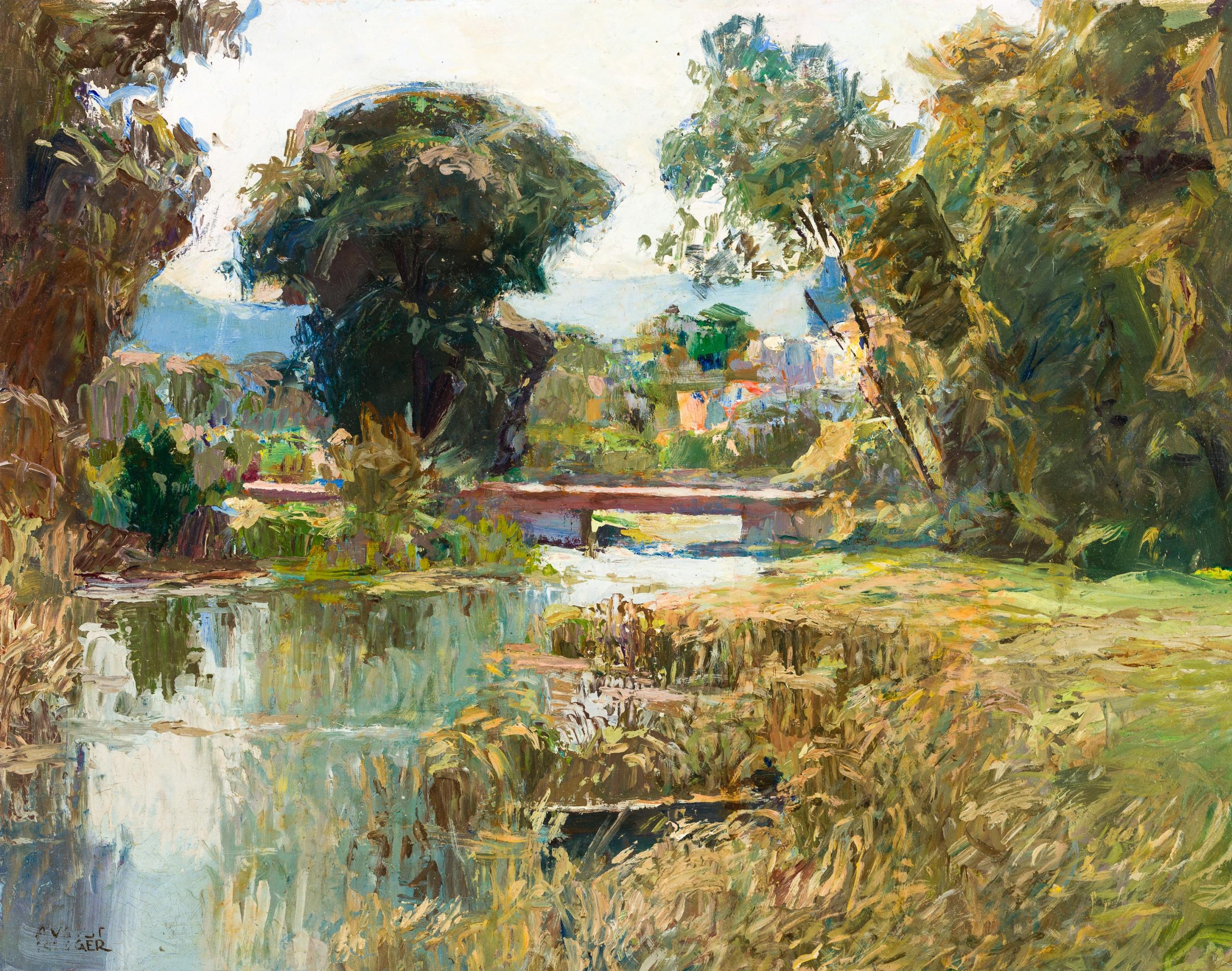 August Rieger, Landschaft bei Neulengbach