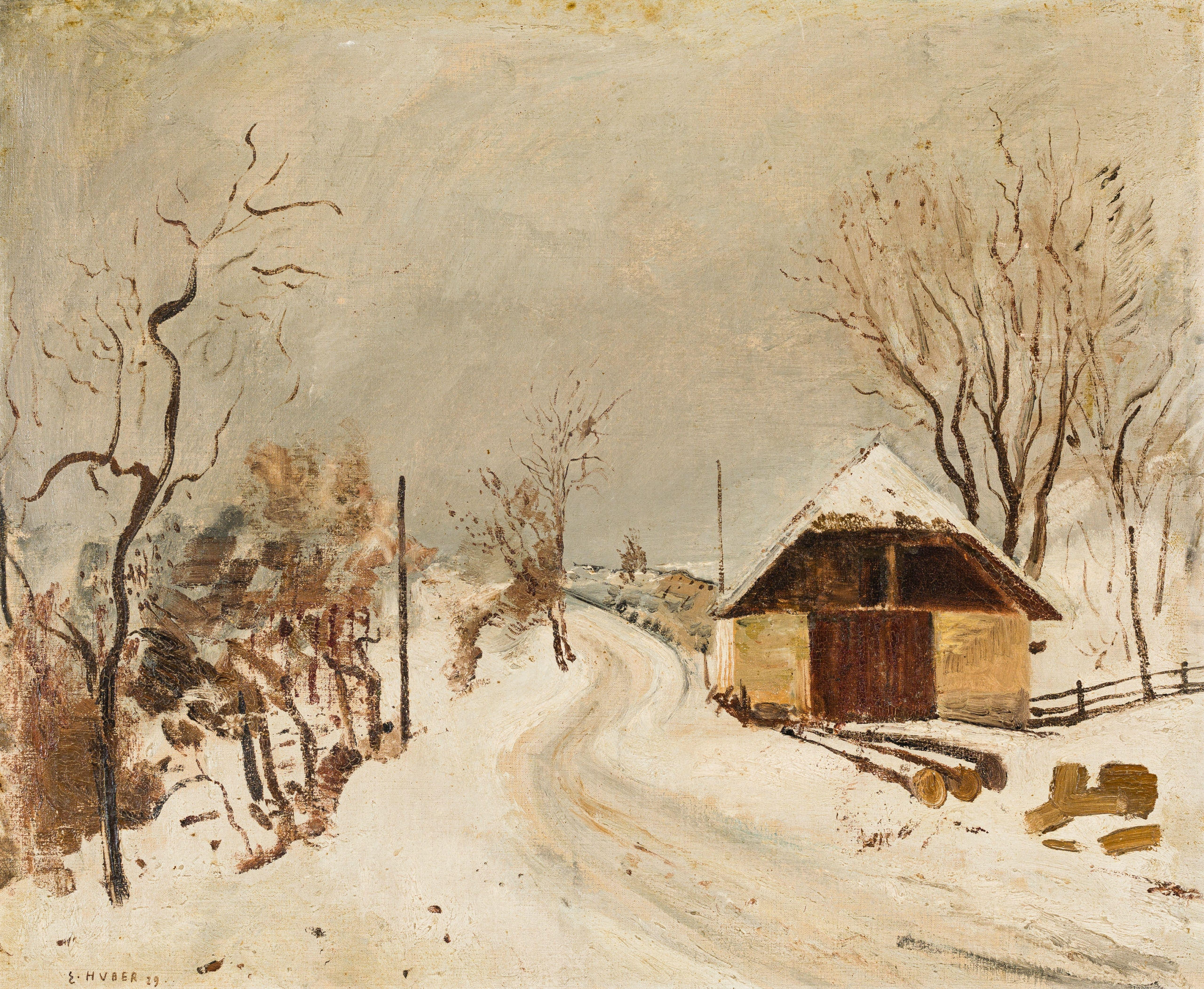 Ernst Huber, Weg im Nebel (Auerbach)