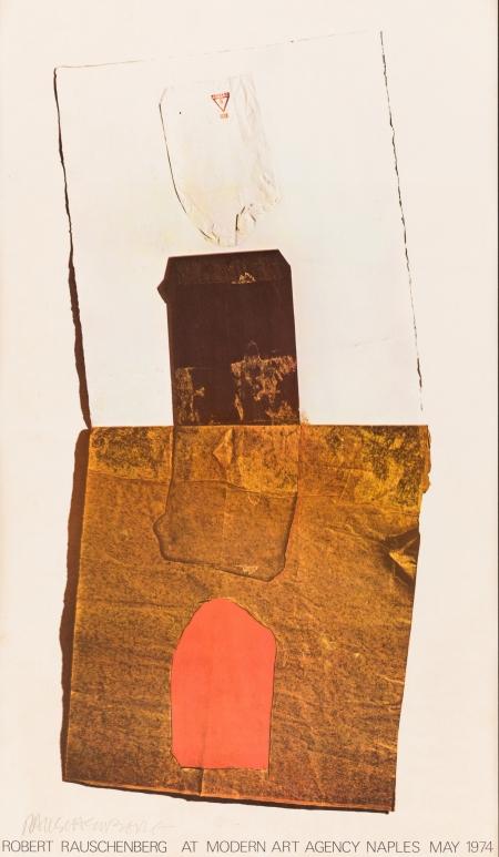 Robert Rauschenberg, Ohne Titel (Robert Rauschenberg at the Modern Art Agency in Naples May 1974)