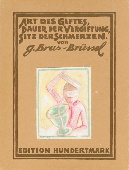 Günter Brus, Art des Giftes, Dauer der Vergiftung, Sitz der Schmerzen (vierteilige Bild-Dichtung)