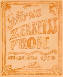 Günter Brus, Zerreissprobe Nr. 11 (Aktionsraum 1, München, 19. Juni 1970)  Fotograf: Klaus Eschen
