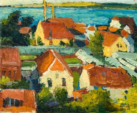 August Rieger, Blick über Wien auf die Donau