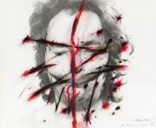 "Arnulf Rainer, Knister (aus der Serie ""Face Farces"")"