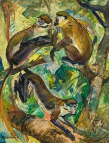 Arthur Brusenbauch, Affen im Baum