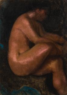 Alfons Walde, Sitzender Frauenakt
