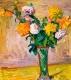 Herbert Boeckl, Stillleben mit Blumen (Dahlien)