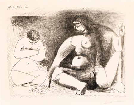 Pablo Ruis Picasso, Deux femmes accroupies II