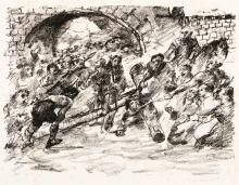 Lovis Corinth, Kreuztragung 1, Kreuztragung 2, Die Waffen des Mars und Mythologische Szene