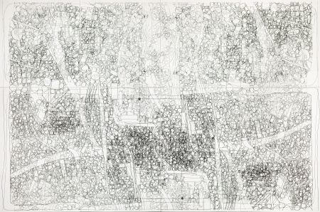 Hermann Nitsch, Die Architektur des Orgien Mysterien Theaters (Faltplan 1 aus der Mappe IV)