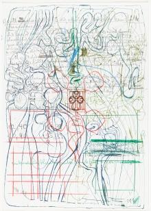 Hermann Nitsch, Ohne Titel (Stadtplan)